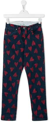 Stella McCartney heart print jeans