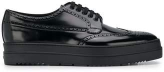 Prada platform lace-up shoes