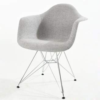 Poly and Bark Padget Padded Arm Chair in Light Grey