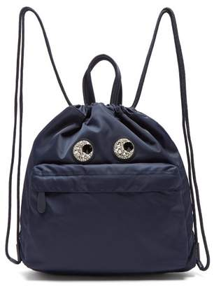 Anya Hindmarch Eyes Shell Backpack - Womens - Navy