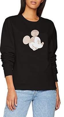 Disney Women's Mickey Mouse Silhouette Metallic Sweatshirt