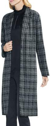 Vince Camuto Long Plaid Jacket