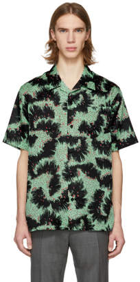Givenchy Black and Green Printed Shirt