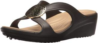 Crocs Women's Sanrah Hammered Circle Wedge Sandal