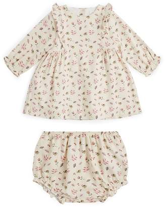 Marie Chantal Dahlia Floral Print Dress and Bloomers Set