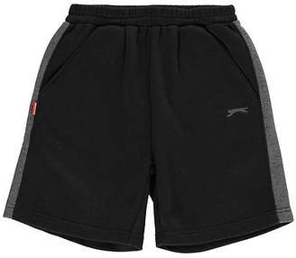 Slazenger Kids Fleece Shorts Junior Boys Warm Sports Pants Training Bottoms