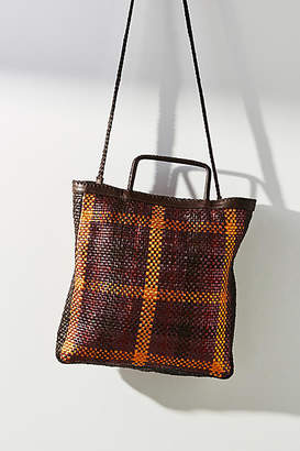 En Shalla Checkered Square Tote Bag
