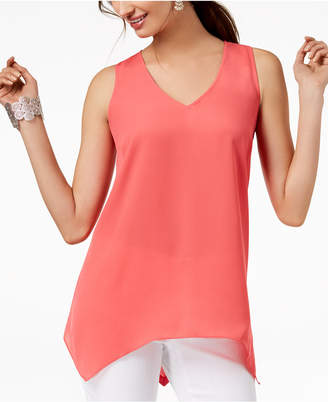 INC International Concepts I.N.C. Handkerchief-Hem Top, Created for Macy's