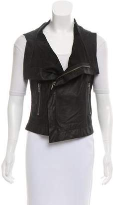 Veda Leather Moto Vest