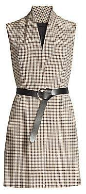 Elie Tahari Women's Savannah Graph Check Vest