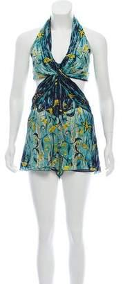 Anna Sui Sleeveless Silk Bodysuit