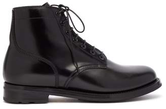 Ralph Lauren Purple Label Ike Leather Ankle Boots - Mens - Black