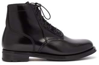 Ralph Lauren Purple Label - Ike Leather Ankle Boots - Mens - Black