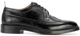 Thom Browne Classic Longwing Brogue In Patent Leather
