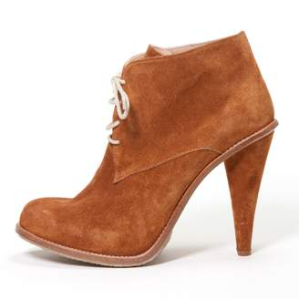 Opening Ceremony Camel Suede Ankle boots