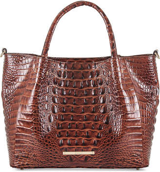 Brahmin Small Mallory Melbourne Embossed Leather Satchel