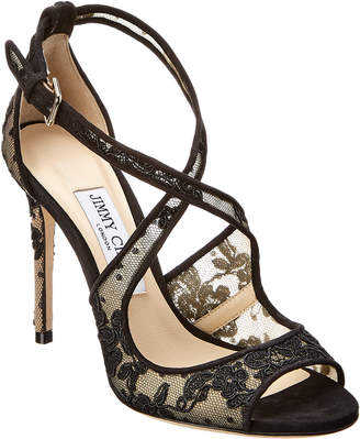 Jimmy Choo Emily 100 Lace Sandal
