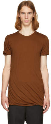 Rick Owens Brown Double T-Shirt