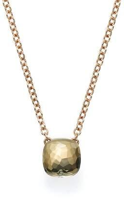 Pomellato Nudo Necklace with Prasiolite in 18K Rose and White Gold