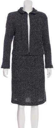 Chanel Tweed Skirt Suit Black Tweed Skirt Suit