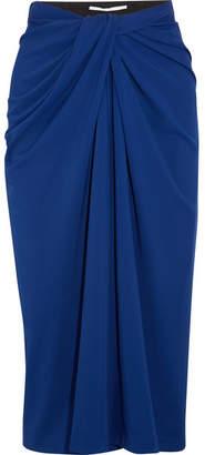 Rosetta Getty Twist-front Stretch-jersey Midi Skirt - Cobalt blue