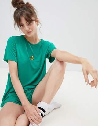 Adolescent Clothing embroidered avocado t-shirt and shorts pyjama set