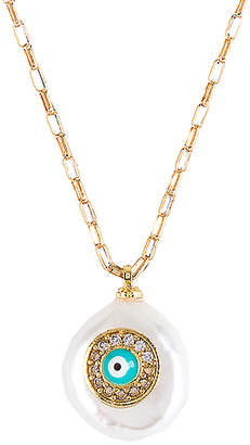 Natalie B Pearl of Love Evil Eye Necklace