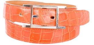 Hermes Quentin Crocodile Belt