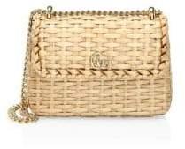 Gucci Straw Mini Shoulder Bag