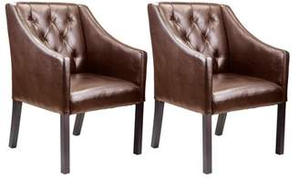 CorLiving Antonio Bonded Leather Accent Club Chair, Set of 2