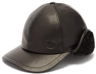 Burberry Explorer Leather Cap - Womens - Black