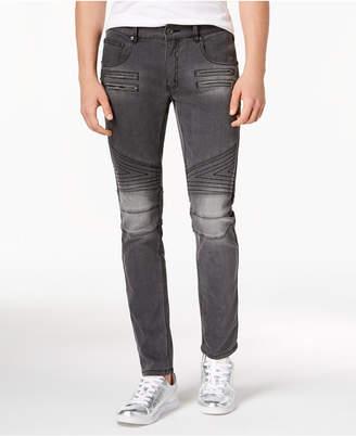INC International Concepts I.n.c. Men's Zig Zag Moto Skinny Jeans, Created for Macy's