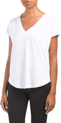 Missy V-neck Short Sleeve Top