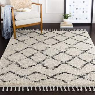 Langley Street Roger Modern Bohemian Rectangle Beige/Charcoal Area Rug