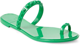 Carmen Sol Green Studded Jelly Sandals