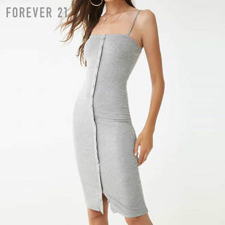 Forever 21 (フォーエバー 21) - Forever 21 フロントボタンミディキャミソールワンピース