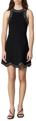 Sandro Jenn Scalloped Studded Mini Dress
