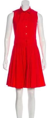 Michael Kors Sleeveless Pleated Dress