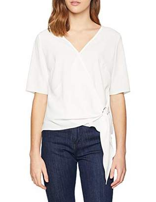 Dorothy Perkins Women's Ring tie Front top Blouse,6 (Size:6)