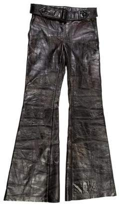 Calvin Klein Collection Belted Leather Pants w/ Tags