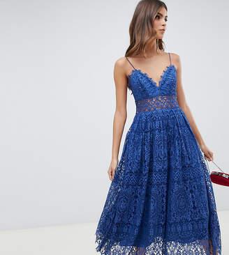 Asos Design DESIGN lace cami midi prom dress