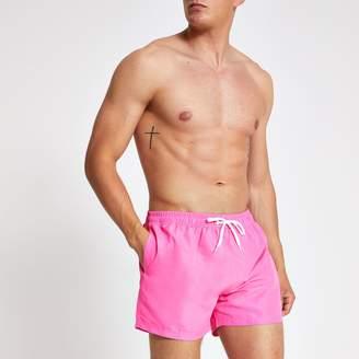 Mens Neon pink Prolific short swim shorts