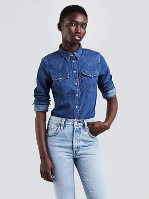 Levi's Tailored Western Shirt Chambray