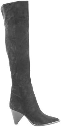 Aldo Castagna Black Suede Desi Boots