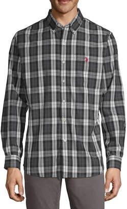 U.S. Polo Assn. USPA Long Sleeve Plaid Button-Front Shirt-Slim