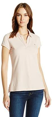 Calvin Klein Jeans Women's Short Sleeve Pique Polo Shirt
