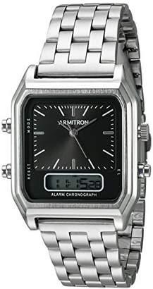 Armitron Men's 20/5124BKSV Analog-Digital Chronograph -Tone Bracelet Watch