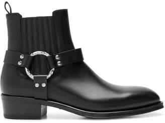 Alexander McQueen chunky heel boots
