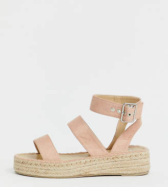3654a0ebabb Raid Wide Fit RAID Wide Fit Bellini blush espadrille sandals