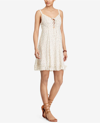 Denim & Supply Ralph Lauren Floral-Print Lace-Up Dress $98 thestylecure.com